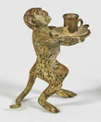 Miniature figure of a monkey as a servant
