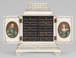 Rare Cabinet Cabinet with Portrait Miniatures