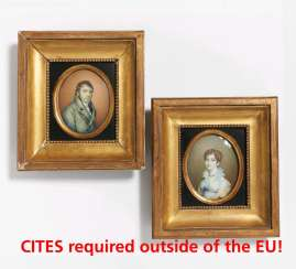Two miniatures: portraits of a couple