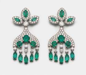 Pair of Emerald Chandeliers