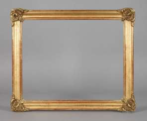 Gold stucco frame around 1880
