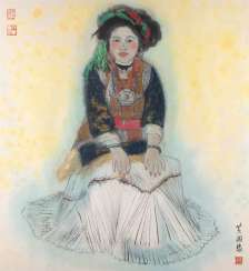 GUO HUANG Working in the 2. Half of the 20th century. Century. CHINESE GIRL