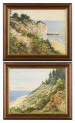Painter on the Baltic Sea: Two Coastal Views