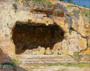 Cave in Palestine. Laurits Regner Tuxes
