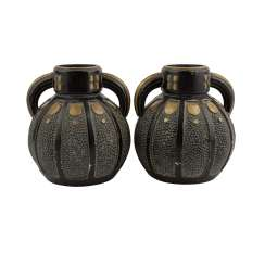 Art NOUVEAU Pair of Henkel vases.