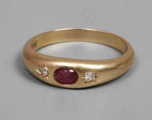 Small ladies ring with ruby