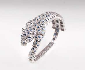 Exceptional Sapphire And Diamond Bracelet 'Panther'.