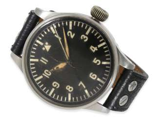 Watch: important and extremely rare IWC pilot's watch of the German air force FL 23883, No. 1014309, Ref.431, C. 1940