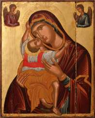 ANDREAS RITZOS 1421 Heraklion - 1492 ibid (radius) IMPORTANT MONUMENTAL ICON WITH THE MOTHER OF GOD 'CARDIOTISSA' Greece
