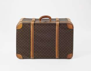 Two suitcases with zippers. Louis Vuitton Ateliers Louis Vuitton, Paris, a Soft case line monogram (Ligne souple), designed in 1962. Manufactured between 1976 and 1985