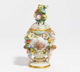 Small potpourri vase with cupids