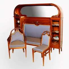 Seating set, mahogany XIXth century