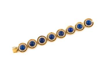 LAPIS LAZULI BRACELET WITH DIAMONDS