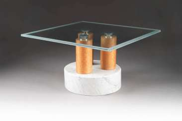 MATTEO THUN 1952 Bolzano (Italy). SIDE TABLE WITH GLASS TOP
