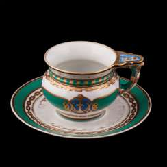 Cup and saucer from the main service of the Imperial yacht