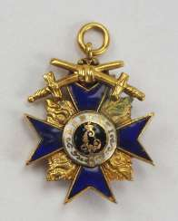 Bavaria : Military-Merit-Order, Cross-3. Class with swords miniature.