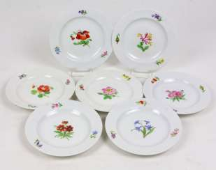 Meissen Set Of Dessert Plates *Flower 1*