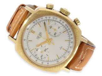 Watch: rare vintage Heuer Chronograph cal. Valjoux 7730, 60s