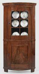Large Biedermeier Corner Display Case Cabinet