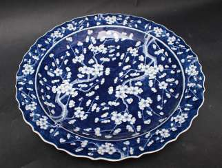 Chinese Porcelain Plate painted, Qing Dynasty