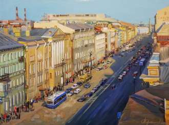 """Traffic along Nevsky Prospect"""