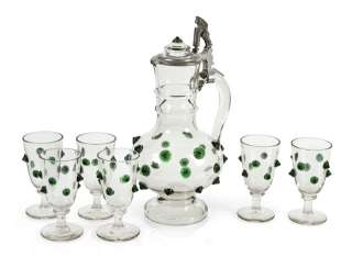 Decanter With 6 Glasses, Histo-