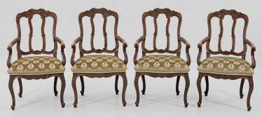 Four Baroque Armchairs