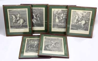 6 copper-engravings in the frame