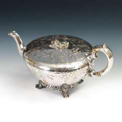 Silver plated teapot with Persistent a part of Argentina