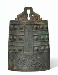 A FINELY CAST BRONZE BELL, BO