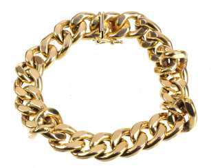 wide curb bracelet yellow gold 585