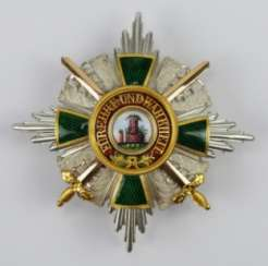 Baden: Grand of the order of the Zähringer lion, knight commander's breast star with swords Duke