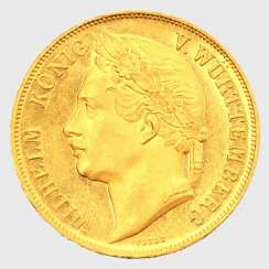 On the Reg.anniversary, William I. / Württemberg - 4 ducats 1841,