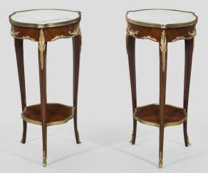 Pair of gueridon tables in the Louis XV style