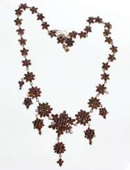 antique garnet necklace Bohemia around 1900