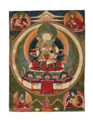 A SET OF FIVE PAINTINGS OF THE FIVE TANTRIC BUDDHAS