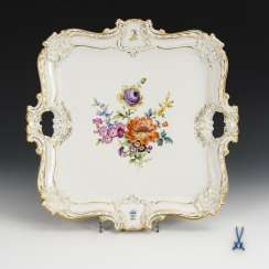 Tray with flower painting
