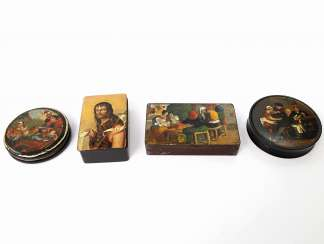 FOUR-PIECE COLLECTION OF TOBACCO TINS
