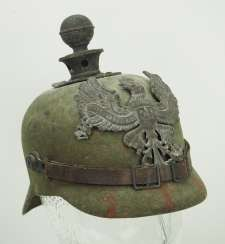 Prussia: field grey replacement Pickelhaube made of felt, for teams of artillery