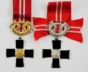 Finland: order of the freedom cross, 3. and 4. Class with swords