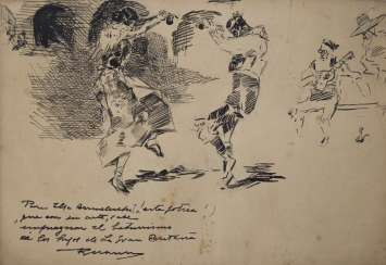Drawing of Spanish Dancers