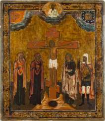 ICON WITH THE CRUCIFIXION OF CHRIST Russia