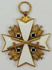 German Eagle Order, 2. Model (1939-1945), Cross Of Merit 2. Level, (from 1943, 5. Class), with swords.