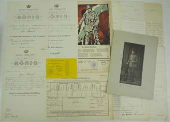 Bavaria: deed estate of a Lieutenant in the field artillery.