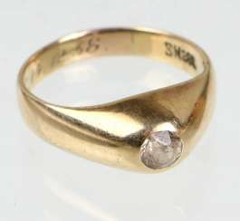 Ladies ring yellow gold 333