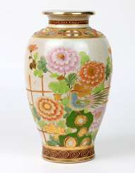 Japanese relief vase