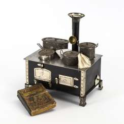 Doll stove and cookbook