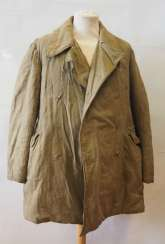 Soviet Union: winter jacket in the shape of a Telogreika / Vatnik. Faded olive green cloth