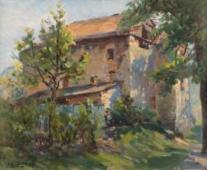 ERNO ERB in 1878, Lemberg (Lviv) - in 1943, ibid house with front yard