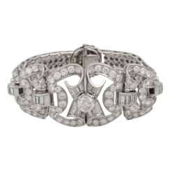 Art Deco diamond bracelet together approx. 25 ct